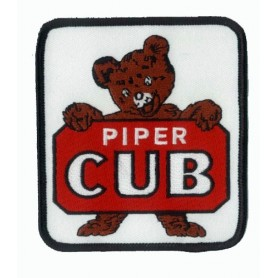 Embroidered patch - Piper Cub logo Teddy 9x10cm - Patche Brodé