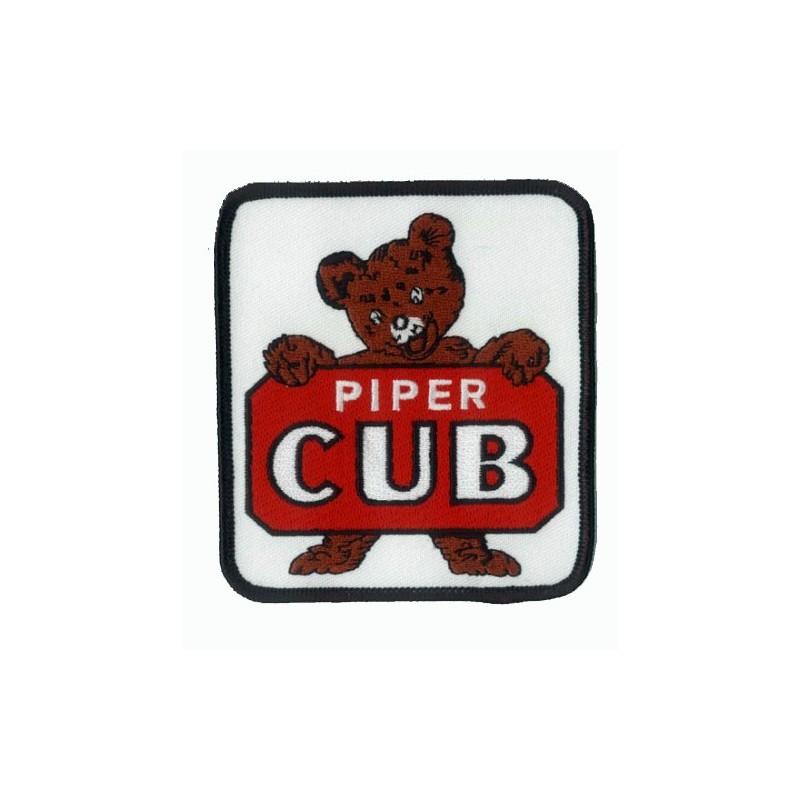 Piper Cub logo Teddy 9x10cm - Ecusson Brodé