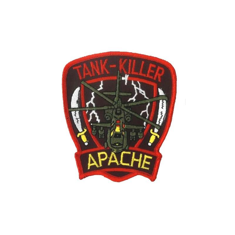 Tank killer Apache - ecusson 10x8.5cm