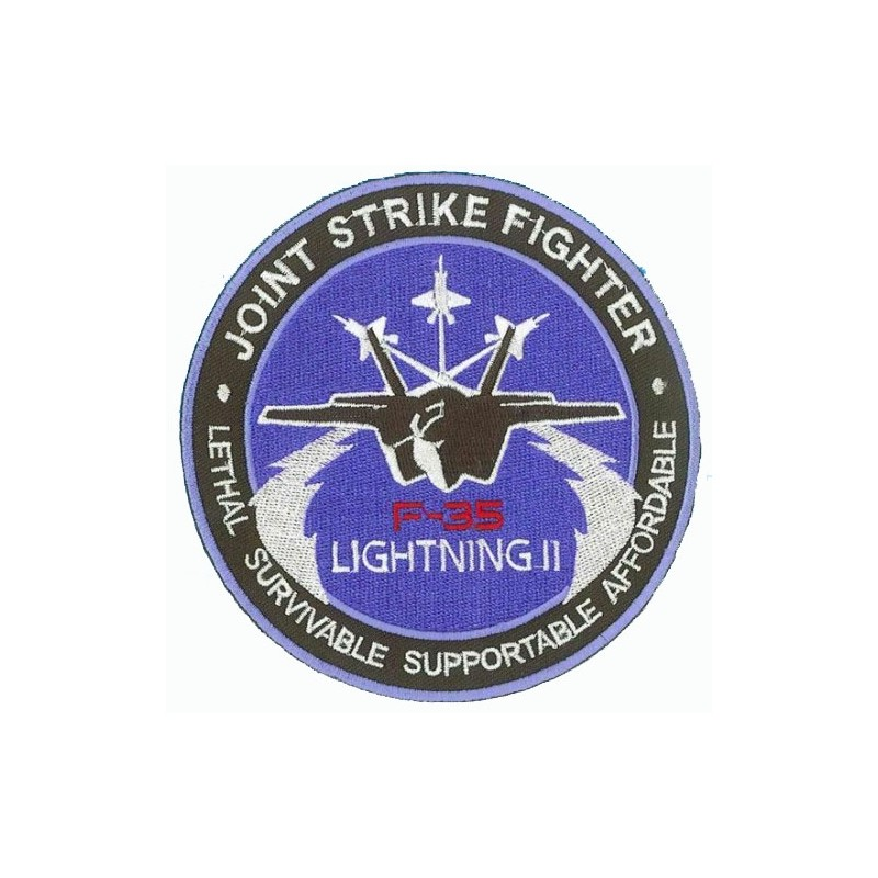Embroidered patch - Joint Strike Fighter F-35 Lightning II - Patche 10cm