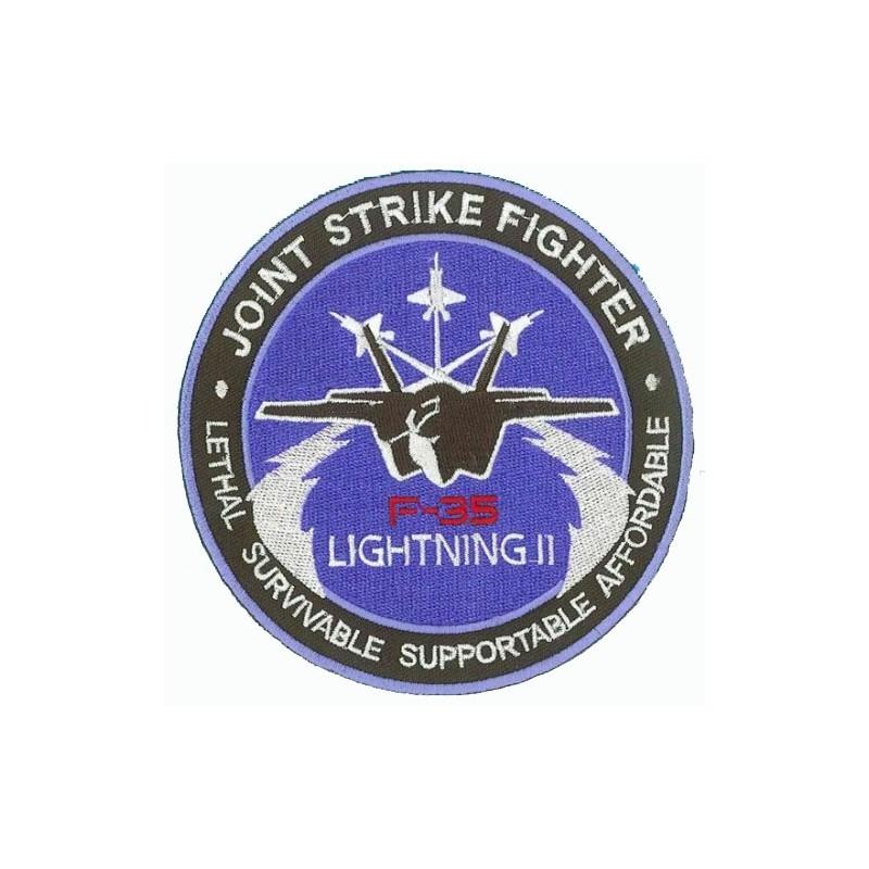 patch bordado de - Joint Strike Fighter F-35 Lightning II - Patche 10cm
