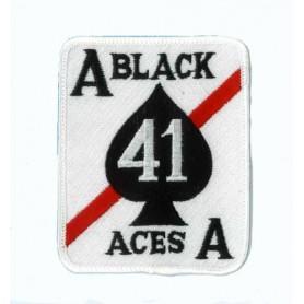 Geborduurde pleister - Black aces - Geborduurde pleistere 9x7.5cm