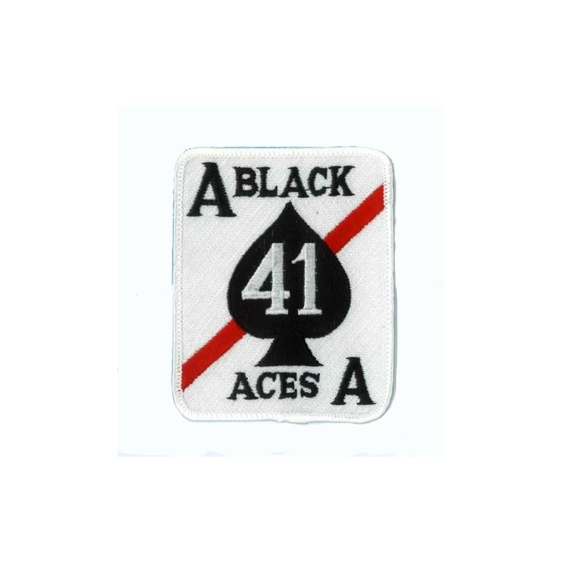 Embroidered patch - Black aces - Patche 9x7.5cm