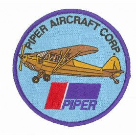 Embroidered patch - Piper J3 Aircraft - Patche 10cm