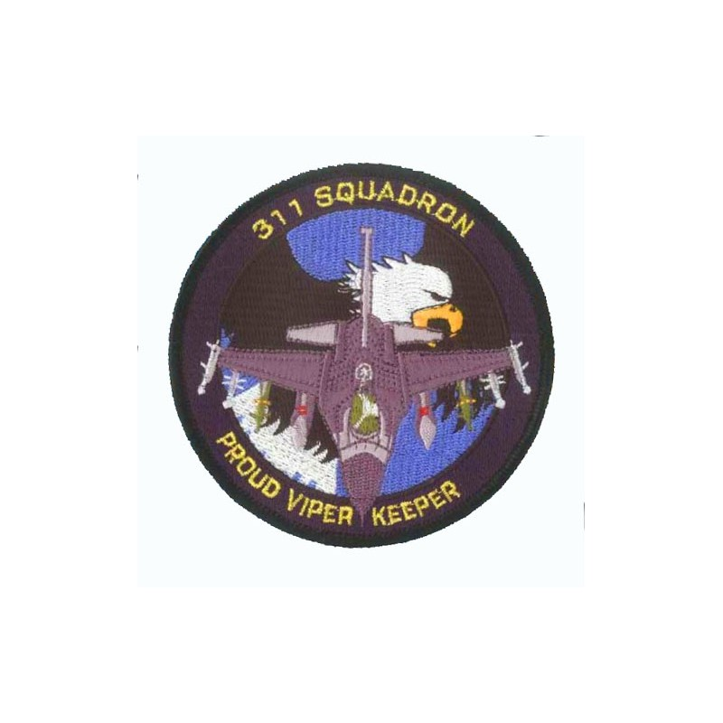 Embroidered patch - Viper Keeper F-16 311 Squadron - Patche 10cm