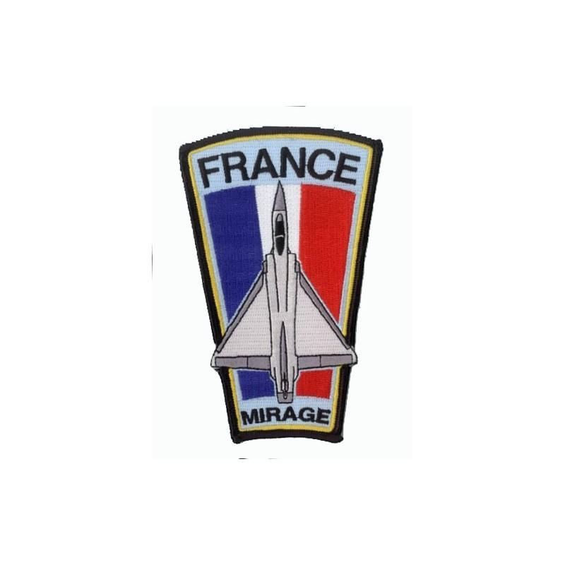 Mirage sur Drapeau Français - Ecusson H12..5cm