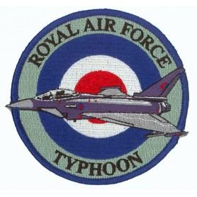 Geborduurde pleister - Royal Air Force Typhoon. Geborduurde pleistere 10cm