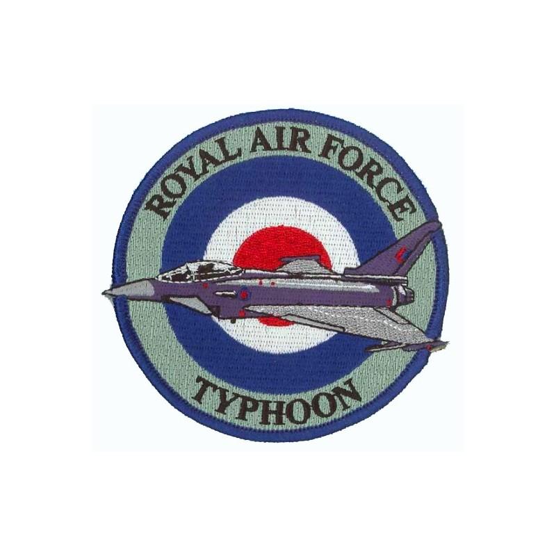 patch bordado de - Royal Air Force Typhoon. Patche 10cm