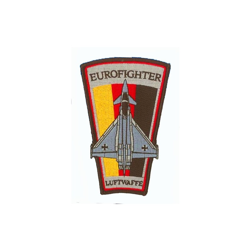 Embroidered patch - Eurofighter Luftwaffe. Patche trapèze H12.5cm