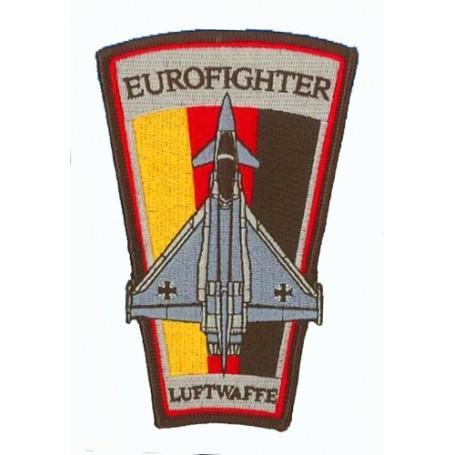 patch bordado de - Eurofighter Luftwaffe. Patche trapèze H12.5cm