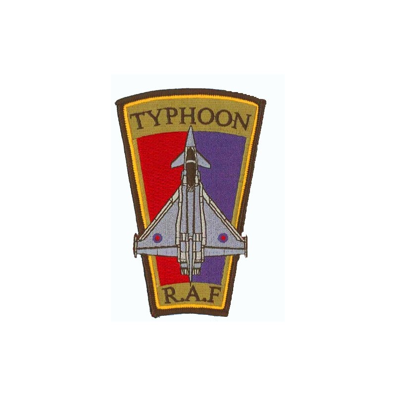 Embroidered patch - Typhoon R.A.F. Patche trapèze H12.5cm