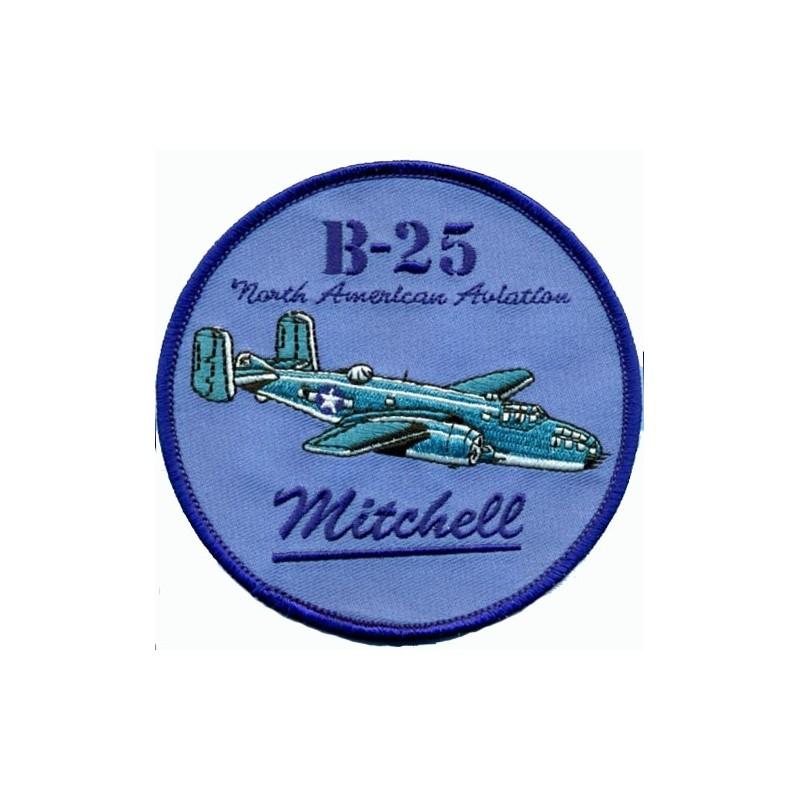 Embroidered patch - B-25 Mitchell - Patche 10cm