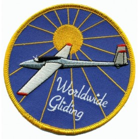 Embroidered patch - Worldwide Gliding - Patche 10cm