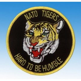 Embroidered patch - Nato Tigers - Hard to be Humble - Patche 10cm