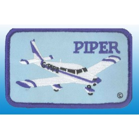 Piper plane - Ecusson rectangle - 11X6cm