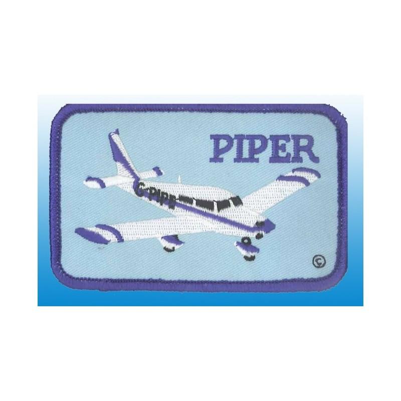 patch bordado de - Piper plane - Patche rectangle - 11X6cm