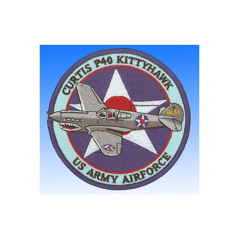 Curtis P40 Kittyhawk USAAF. Ecusson 10cm