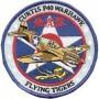Curtis P40 Warhawk Flying Tigers. Ecusson 10cm