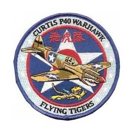Geborduurde pleister Curtiss P-40 - Tigres Volant