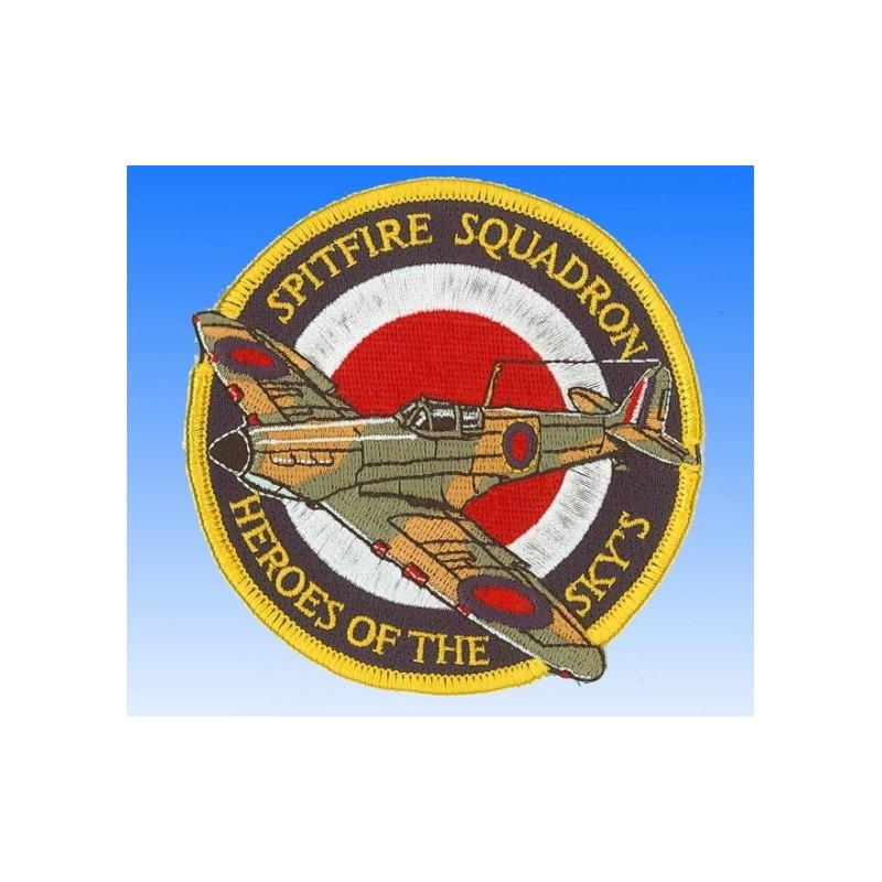Embroidered patch - Spitfire squadron Heroes of the skyes. Patche 10cm