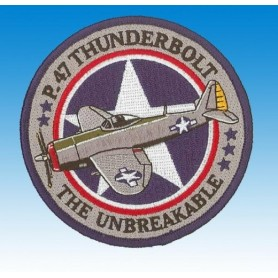 P47 Thunderbolt USAF - The unbreakable - Ecusson patch 10cm
