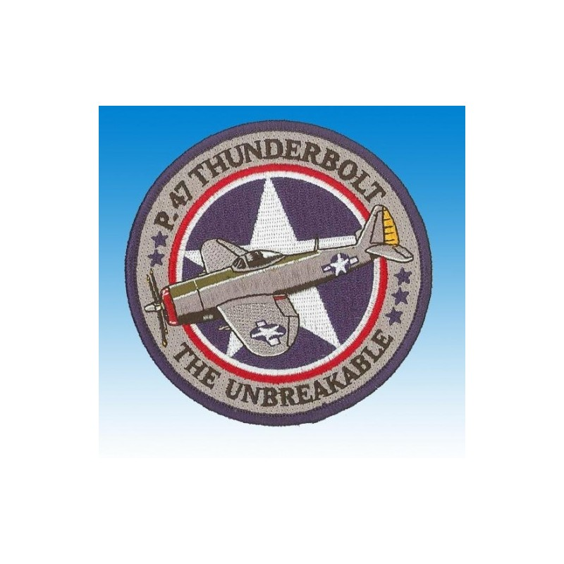 Embroidered patch - P47 Thunderbolt The unbreakable - Patche 10cm