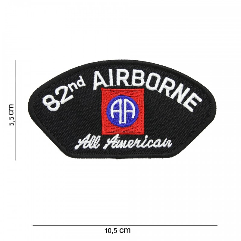 Embroidered patch - 82e Airborne red
