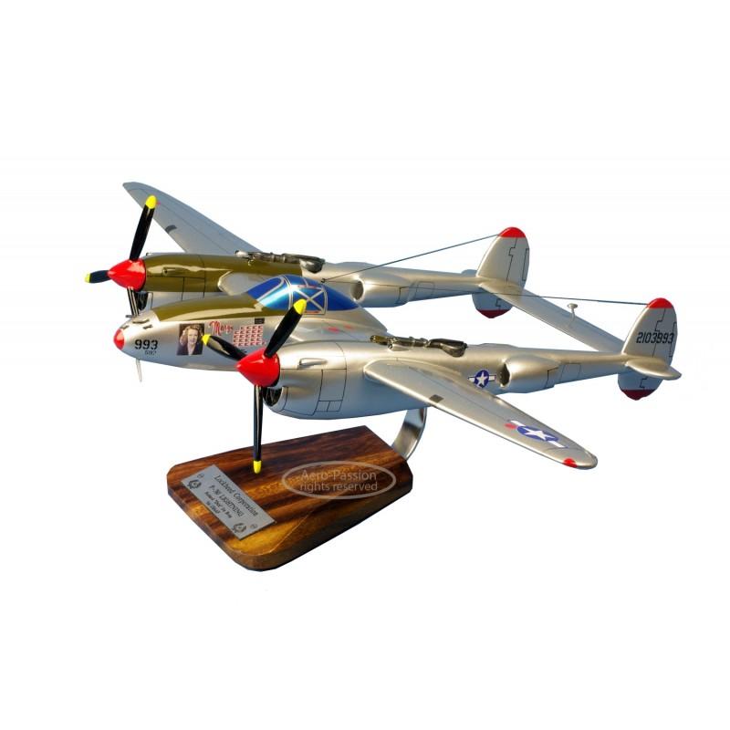 maquette avion - P-38J Lightning - J-LO R.Bong