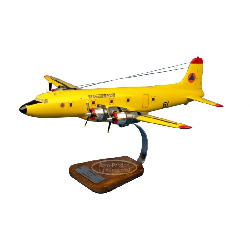 plane model - Douglas DC-6 Securite Civile plane model - Douglas DC-6 Securite Civileplane model - Douglas DC-6 Securite Civile