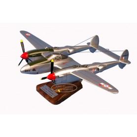 modelo de avião - P-38 - F-5B Lightning - St Exupery