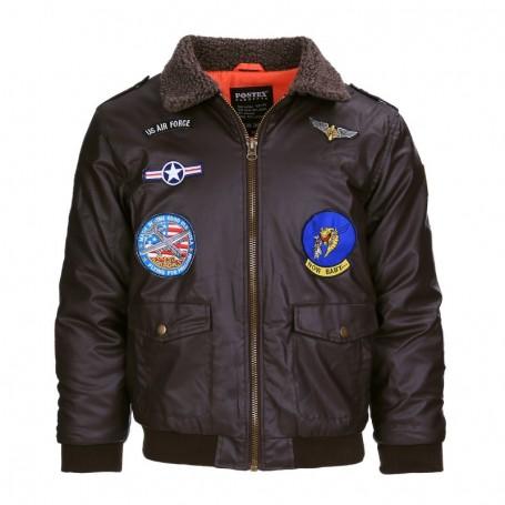 Pilot Jacket imitation leather kids CUIR121430