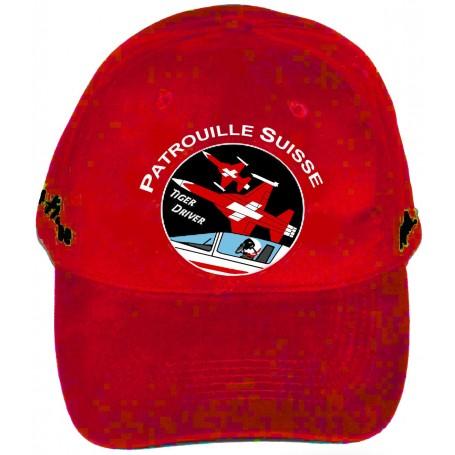 cap Patrouille Suisse F-5 CAP PatSuisse-rouge